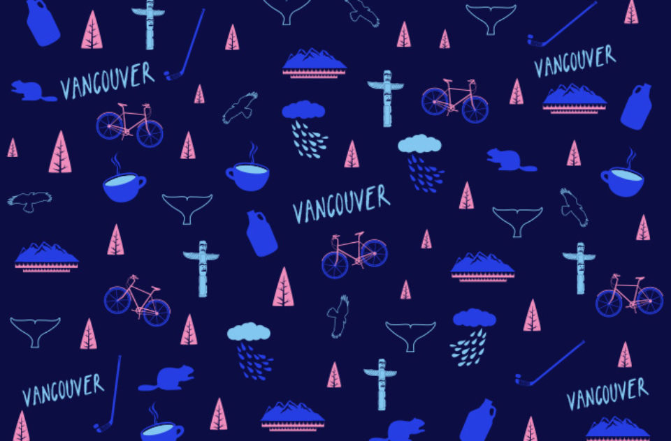 Vancouver gift wrap design