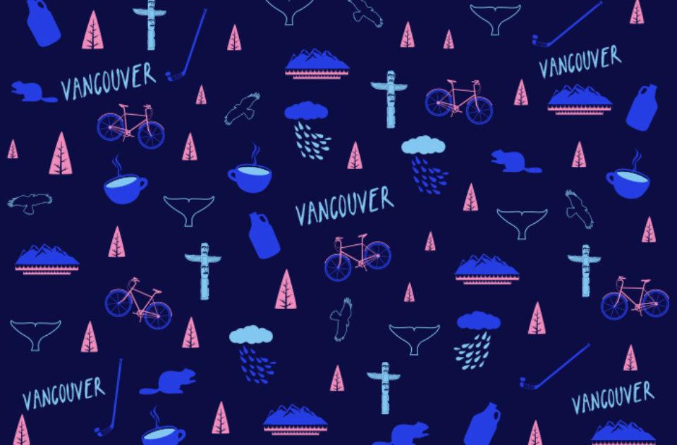 Vancouver gift wrap design